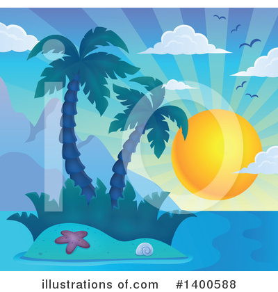 Tropical Island Clipart #1400588 by visekart