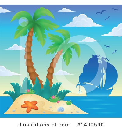 Tropical Island Clipart #1400590 by visekart