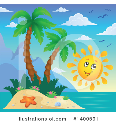 Tropical Island Clipart #1400591 by visekart