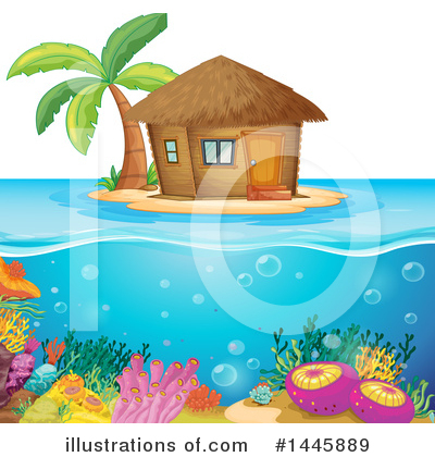 Royalty-Free (RF) Island Clipart Illustration by Graphics RF - Stock Sample #1445889