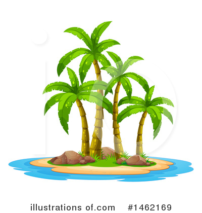 Palm Trees Clipart #1462169 by Graphics RF