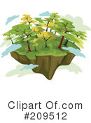 Royalty-Free (RF) Island Clipart Illustration #209512