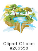 Royalty-Free (RF) Island Clipart Illustration #209558