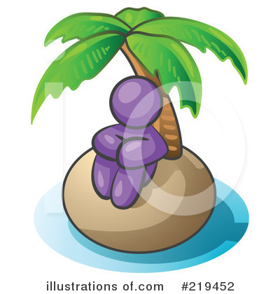 Royalty-Free (RF) Island Clipart Illustration by Leo Blanchette - Stock Sample #219452