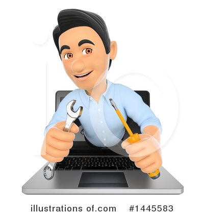 Laptop Clipart #1445583 by Texelart