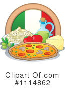 Royalty-Free (RF) italian cuisine Clipart Illustration #1114862