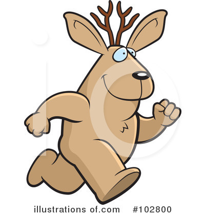 Jackalope Clipart #102800 by Cory Thoman