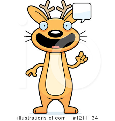 Jackalope Clipart #1211134 by Cory Thoman
