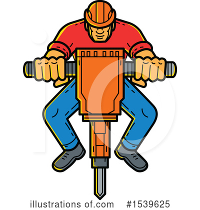 Construction Worker Clipart #1539625 by patrimonio