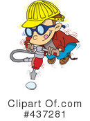 Royalty-Free (RF) Jackhammer Clipart Illustration #437281