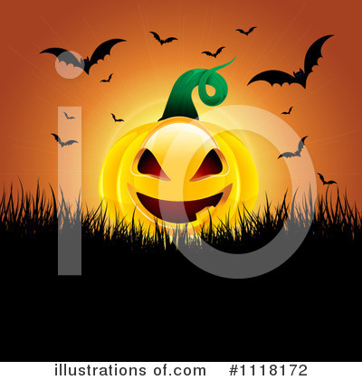Halloween Pumpkins Clipart #1118172 by KJ Pargeter