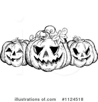 Halloween Pumpkins Clipart #1124518 by visekart