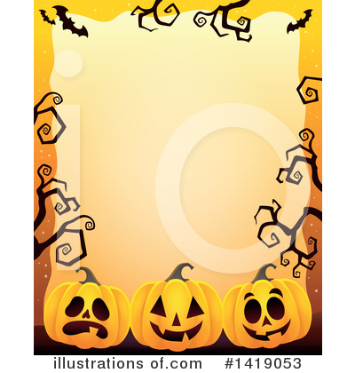 Halloween Pumpkins Clipart #1419053 by visekart