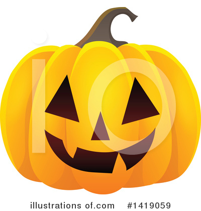 Halloween Pumpkins Clipart #1419059 by visekart