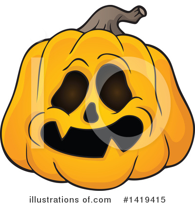 Halloween Pumpkins Clipart #1419415 by visekart