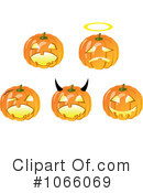 Jackolanterns Clipart #1066069 by Vector Tradition SM