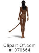 Jaguar Woman Clipart #1070664