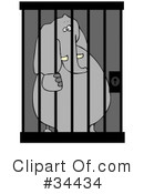 Royalty-Free (RF) Jail Clipart Illustration #34434