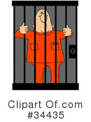 Royalty-Free (RF) Jail Clipart Illustration #34435