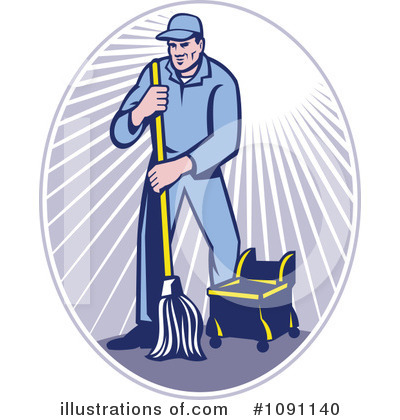 Janitor Clipart #1091140 by patrimonio