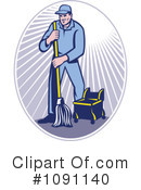 Royalty-Free (RF) Janitor Clipart Illustration #1091140