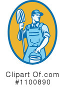 Royalty-Free (RF) Janitor Clipart Illustration #1100890