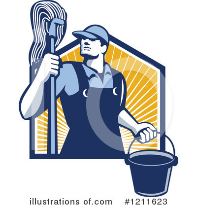 Janitor Clipart #1211623 by patrimonio