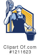 Royalty-Free (RF) Janitor Clipart Illustration #1211623