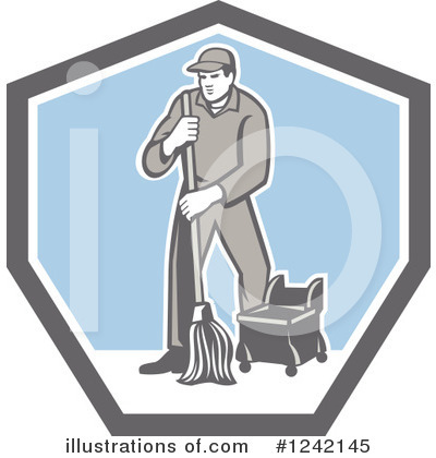 Janitor Clipart #1242145 by patrimonio