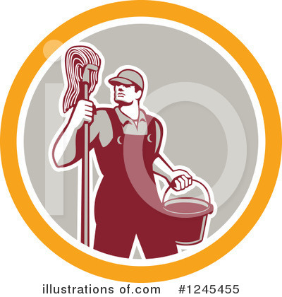 Janitor Clipart #1245455 by patrimonio