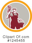 Royalty-Free (RF) Janitor Clipart Illustration #1245455
