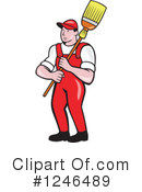Royalty-Free (RF) Janitor Clipart Illustration #1246489