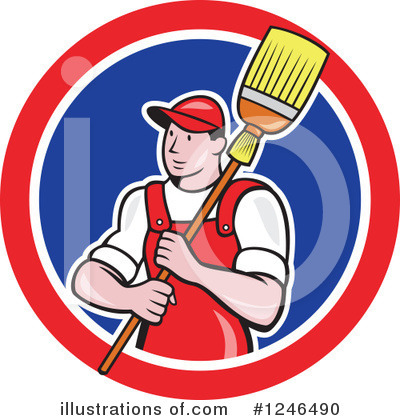 Janitor Clipart #1246490 by patrimonio