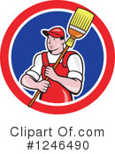 Royalty-Free (RF) Janitor Clipart Illustration #1246490