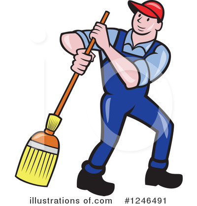 Janitor Clipart #1246491 by patrimonio