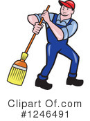 Royalty-Free (RF) Janitor Clipart Illustration #1246491