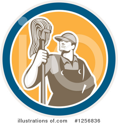 Janitor Clipart #1256836 by patrimonio