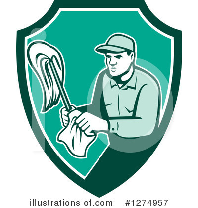 Royalty-Free (RF) Janitor Clipart Illustration by patrimonio - Stock Sample #1274957