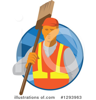 Janitor Clipart #1293963 by patrimonio