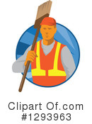 Royalty-Free (RF) Janitor Clipart Illustration #1293963