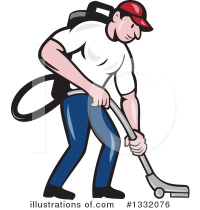 Janitor Clipart #1332076 by patrimonio