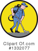Royalty-Free (RF) Janitor Clipart Illustration #1332077