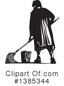 Royalty-Free (RF) Janitor Clipart Illustration #1385344