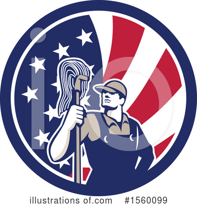 Janitor Clipart #1560099 by patrimonio