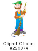 Royalty-Free (RF) Janitor Clipart Illustration #226874