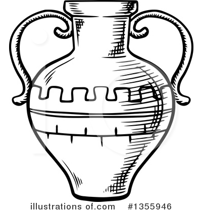 Pottery Clipart #1355946 by Vector Tradition SM