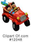 Royalty-Free (RF) jeep Clipart Illustration #12048