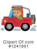 Royalty-Free (RF) Jeep Clipart Illustration #1241891