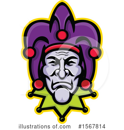Royalty-Free (RF) Jester Clipart Illustration by patrimonio - Stock Sample #1567814