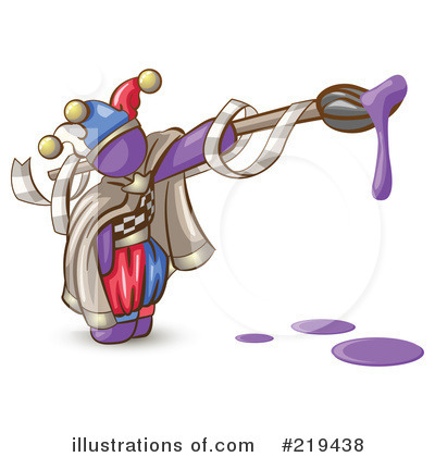 Purple Design Mascot Clipart #219438 by Leo Blanchette